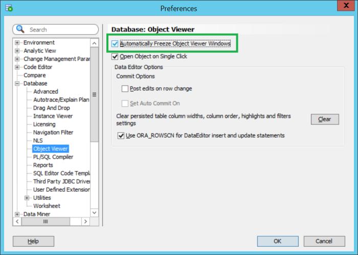 Oracle SQL Developer - Multiple tabs for tables