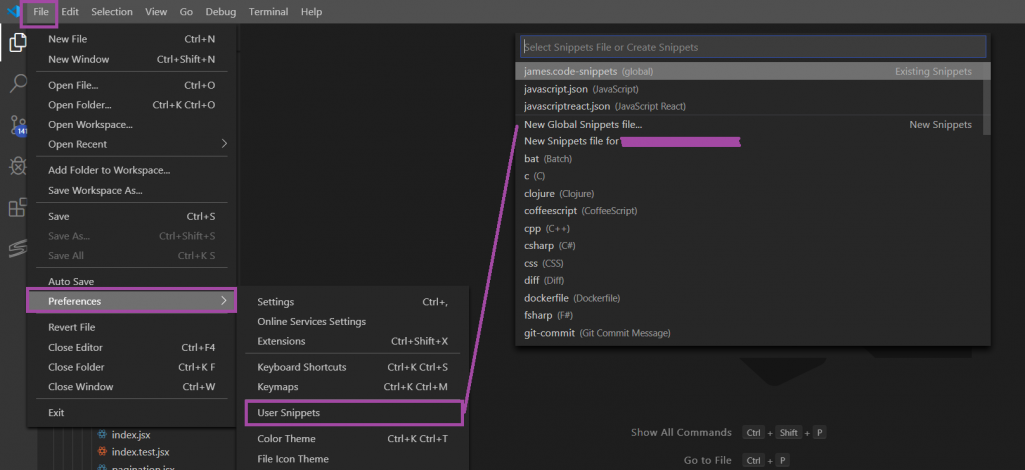"""Transitioning from Atom to VS Code: Snippets (""""AutoComplete"""")"""